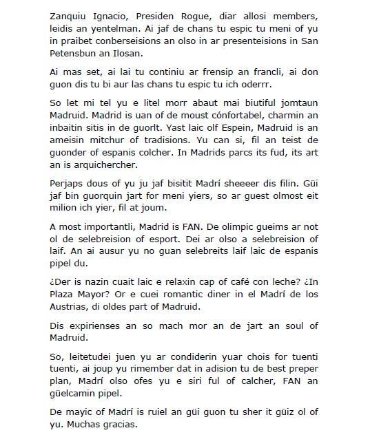Speech de Ana Botella